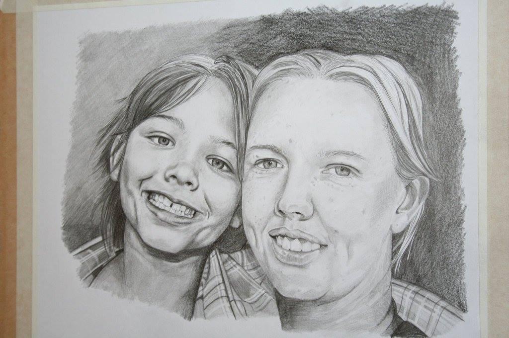 Bec Rose Artist Portrait Painting