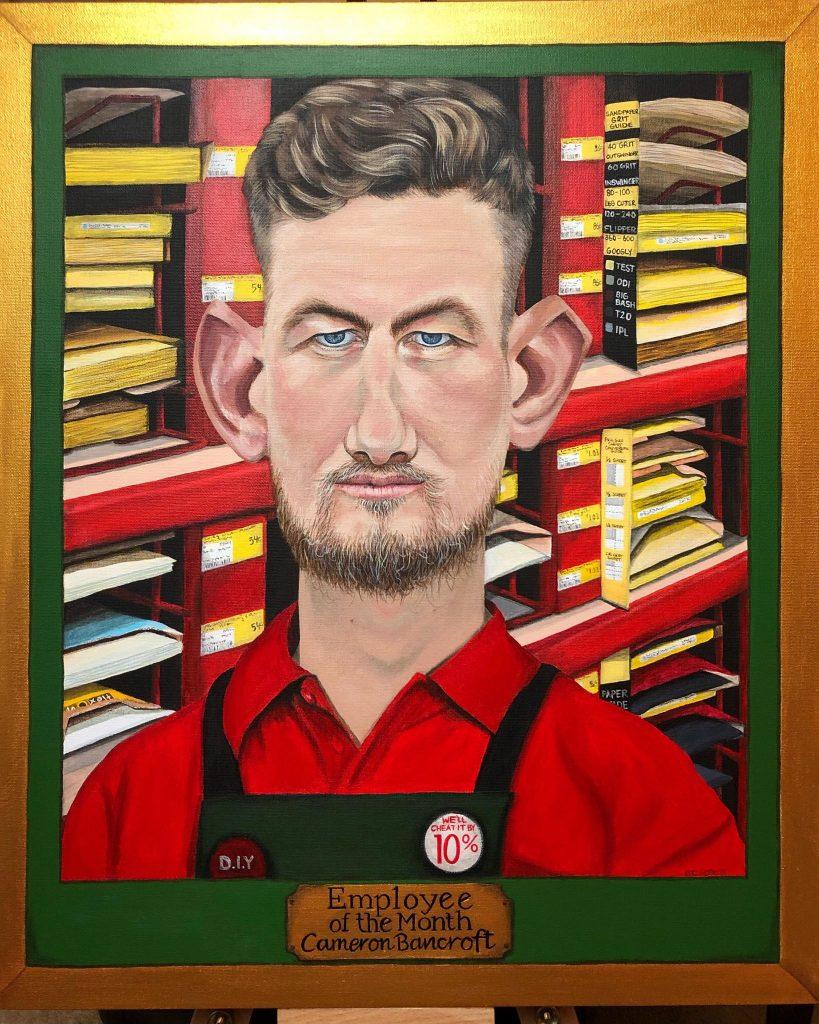 Cameron Bancroft Bald Archy Portrait